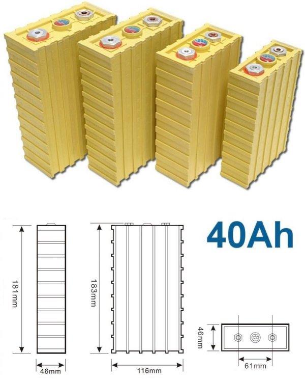 Články LiFeYPO4, napětí 3.2V a nominální kapacita 40Ah