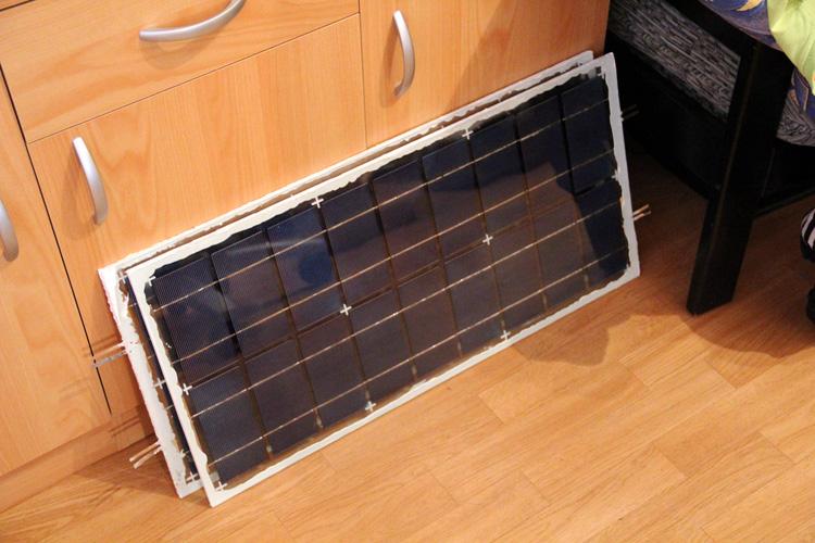 Oba fotovoltaické panely jsou hotové
