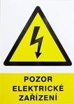 Cedule - Pozor elektrické zařízení