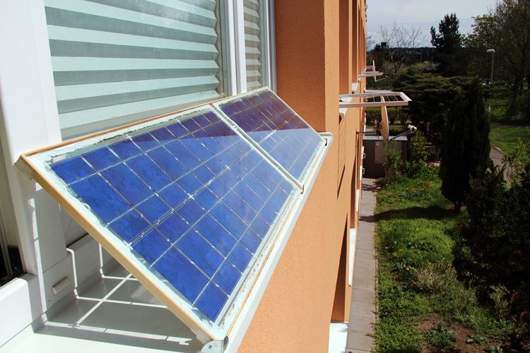 Moje vlastní fotovoltaické panely již umístěny venku