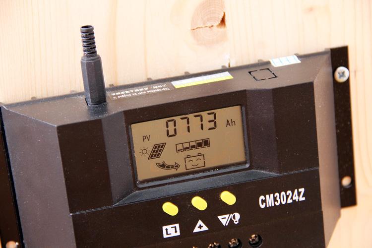 Solární regulátor - vyrobeno 10kWh